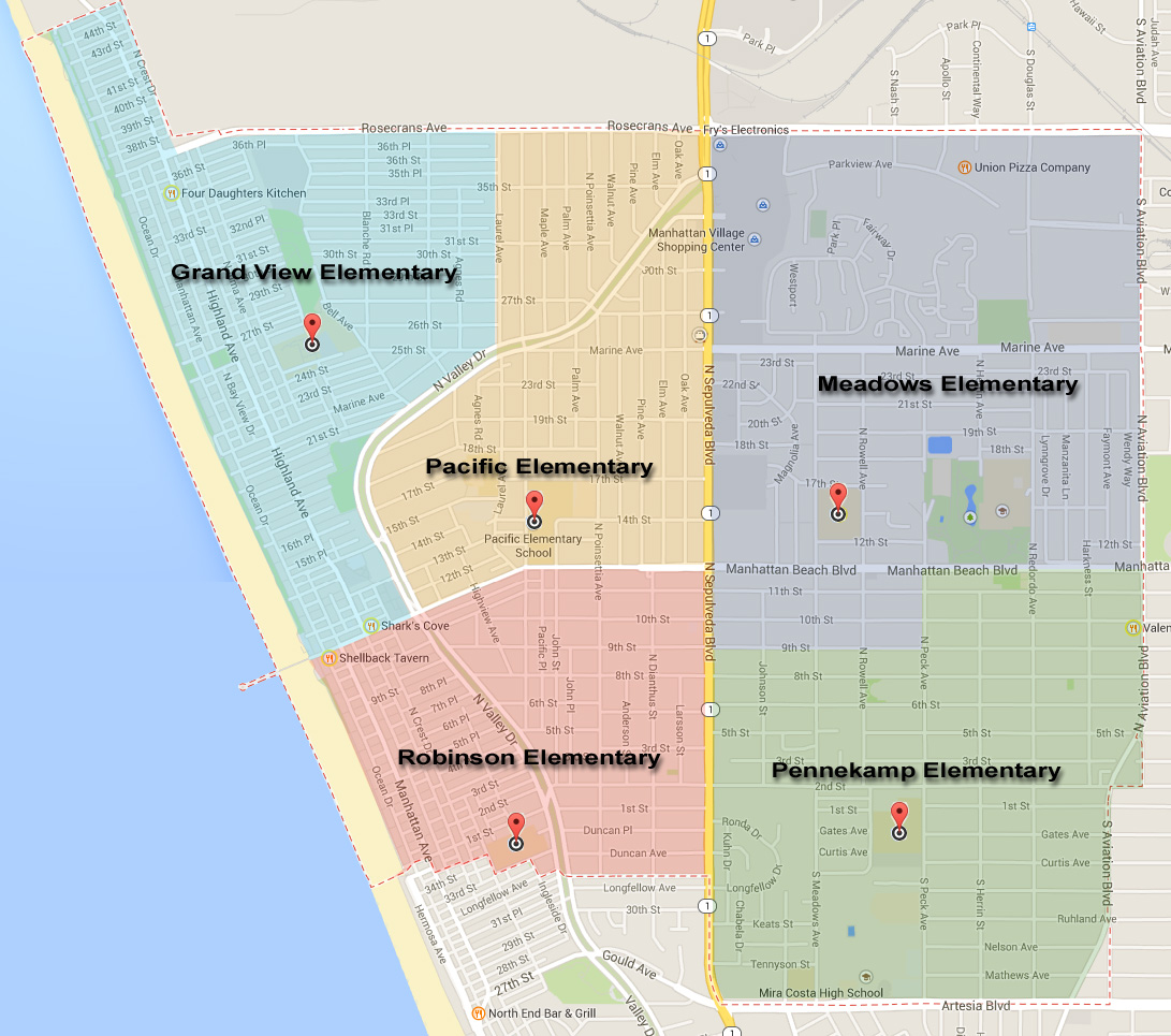 Manhattan-Beach-Schools-Map